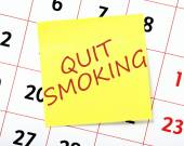 Quit Smoking Resolution — 图库照片