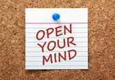 Open Your Mind Message — Stock Photo