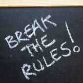Break The Rules! — Stock Photo