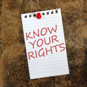 Know Your Rights — Stock Photo
