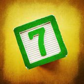 Lucky Number Seven — Stock Photo
