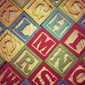 Alphabet Wooden Letters — Stock Photo