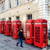 Red Telephone Boxes — Stok fotoğraf