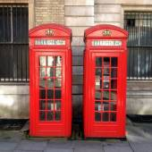 Two Red Telephone Boxes — Stock Photo
