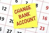 Change Bank Account — Stock Photo