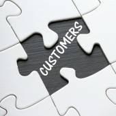 Customer Puzzle — Stock Photo