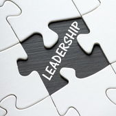 LEADERSHIP Puzzle — Stock Photo