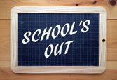 School's Out — Stockfoto
