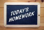Today's Homework — Stock Photo