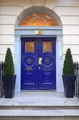 Georgian Entrance - Harley Street — Stock Photo