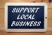 Support Local Business — Stock Photo