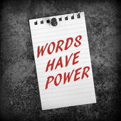 Words Have Power — Stock Photo