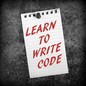 Learn to Write Code — Stock Photo