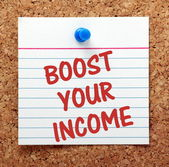 Boost Your Income — Stock Photo