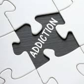 ADDICTION Puzzle — Stock Photo