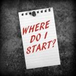 Where Do I Start? — Stock Photo #74403415