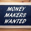 Money Makers Wanted — Stock Photo #74865735