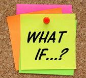 E se? — Fotografia Stock