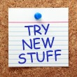 Постер, плакат: Try New Stuff
