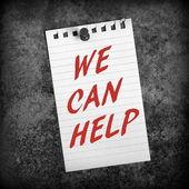 Possiamo aiutare — Foto Stock