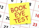 Book Eye Test Reminder — Stock Photo
