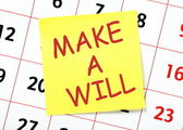 Make A Will — Stock Photo