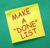 Make A Done List — Stock Photo