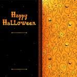 Happy Halloween card with ghosts, vector. — Stock Vector #56825193