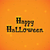 Happy Halloween orange background, vector. — Stockvektor