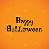Happy Halloween orange background, vector. — Stock Vector