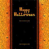 Happy Halloween card with ghosts, vector. — Vetorial Stock
