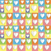 Colour paper heart background — Stock Photo