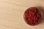 Jagody goji chiński wolfberry (Lycium barbarum) — Zdjęcie stockowe