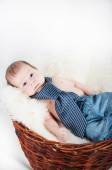 Cute baby in tie — Stock Photo