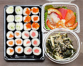 Sushi takeaway — Stock Photo