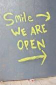 Open shop sign — Stock Photo
