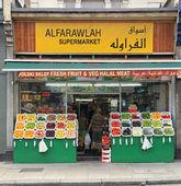 Ethnic food store — Stock Photo