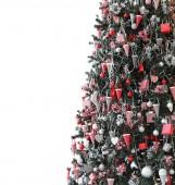 Stripe Christmas tree — Stock Photo