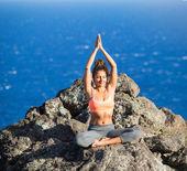 женщина йога — Стоковое фото