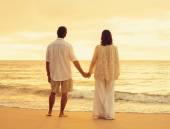 Retired Couple on the Beach — Stock Photo