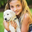Girl with Puppy — Stock Photo #53795315