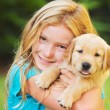 Girl with Puppy — Stock Photo #53795349
