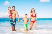 Feliz en la playa — Foto de Stock