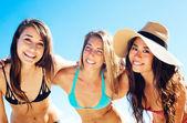 Group of Pretty Girls in Bikinis, Best Friends — Stock Photo