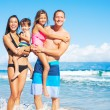 Happy Mixed Race Family on the Beach — Stock Photo #54336097