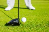 Close up of Golf Ball on Tee — Stock Photo