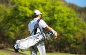 Golfer Walking with Bag — Stok fotoğraf