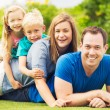 Happy Family Outside — Stock Photo #54852789