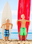 Young Boys with Surfboards — Stock Photo