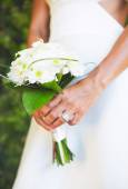 Bride and Buquet on Wedding Day — Stock Photo